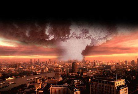 Ядерный взрыв в Лондоне - фотомонтаж из газеты Индепендент
